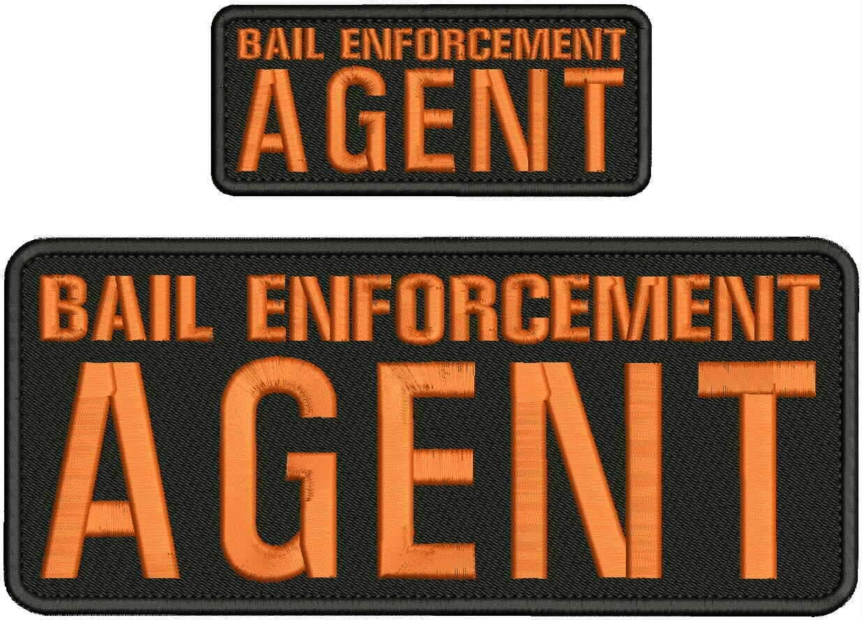 Bail Enforcement Agent Embroidery Patch 4X10 Bac Hook and 2X5 on Excellence Outlet sale feature