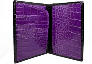 Alligator Passport Wallet in Black and Purple by John Allen Woodward
