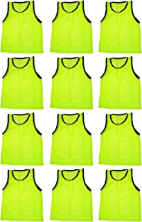 Set of 12 ~ Scrimmage Vests Vests Pinnies Soccer ~ Youth Yellow
