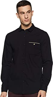 Amazon Brand - House & Shields Men's Solid Regular fit Casual Shirt