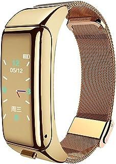 B6 Smart Watch, met Bluetooth oorhaak hartslagmeter, geschikt voor band 4 horlogeband fitness tracker oortelefoon sport ho...