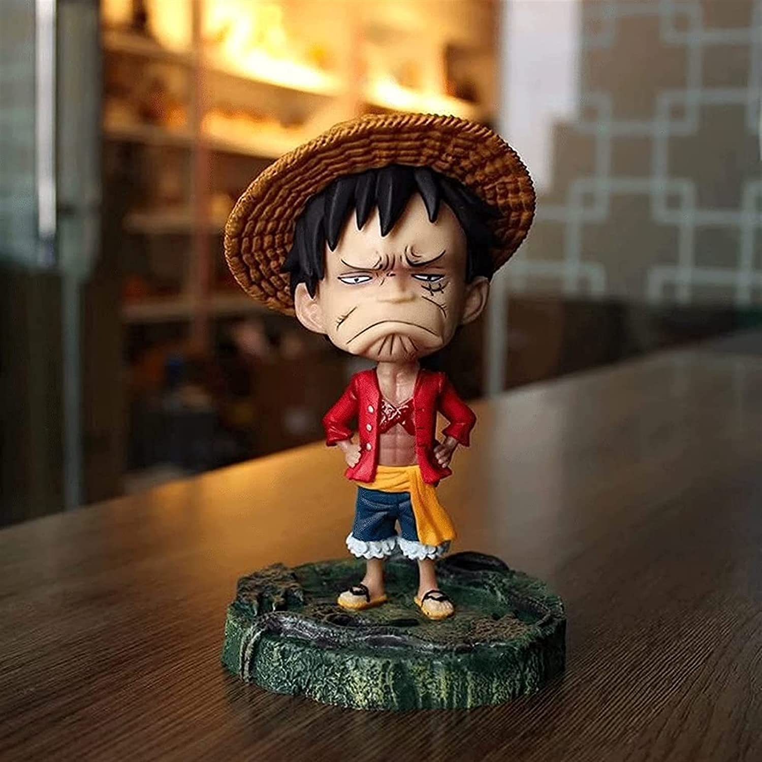 JINGMAI ONE Outlet ☆ Free Shipping Piece Superior Q Edition Monkey 7Inches Emoticons 3 Luffy D.