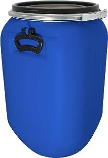 Bouchonnerie Jocondienne 612630 Fût 60 litres O.T. avec Couvercle Cerclage et Poignée, Plastique, Bleu, 37,5 x 37,5 x 61,5 cm