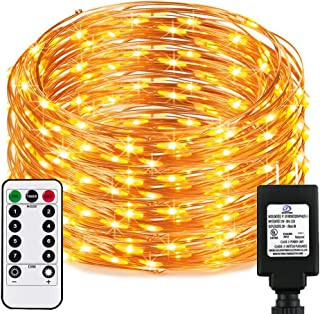 Dimable Led String Lights with Remote&Timer, RcStarry(TM) New Version 165Ft/50M 500 LEDs Copper Wire String Lights, Warm White, UL Listed, Ideal for Bedroom, Parties, Wedding, Christmas,etc.