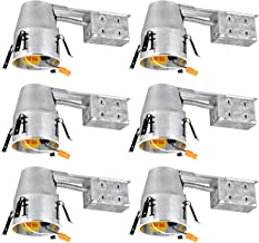 TORCHSTAR 4-Inch UL-Listed Remodel Can, Air Tight IC Housing, TP24 Connector Included for LED Recessed Retrofit Kit, 120V Voltage, Pack of 6