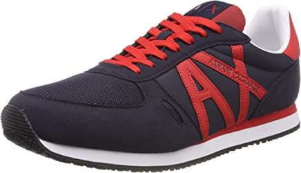 ARMANI EXCHANGE Lace Up Sneaker with Logo, Scarpe da Ginnastica Basse Uomo