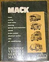 Mack trucks Factory Highway Vehicle Service Manual(Components, Chassis)