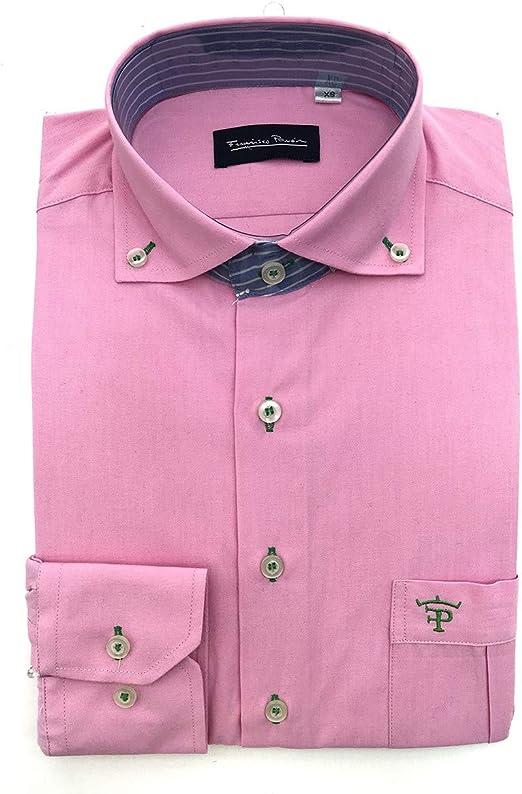 Francisco Pavón Camisa Casual Guayabera Rosa Chicle con ...