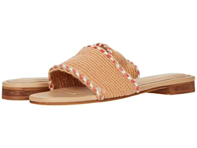 KAANAS Jamaica Handwoven Sandals with Braid (Camel) Women