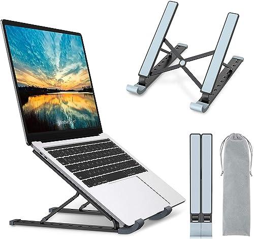 Babacom Support Ordinateur Portable, Support PC Portable à 9 Niveaux Réglables, Refroidisseur en Aluminium Ventilé Co...