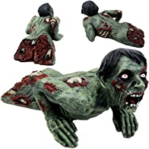 Atlantic Collectibles Crawling Zombie Walking Undead With Severed Body Peeling Flesh Decorative Figurine Door Stopper 9.25