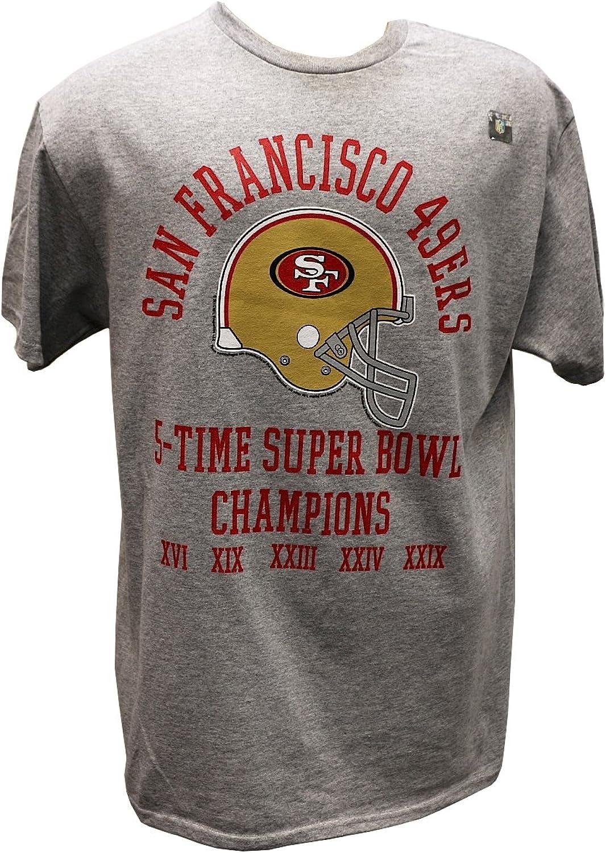 NFL San Francisco 49Ers 5 Time Super Bowl Champ TShirt