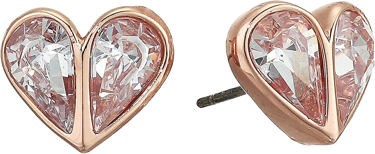 Kate Spade New York Rock Solid Stone Small Heart Studs Earrings