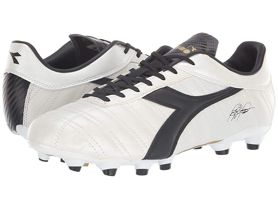 Diadora Baggio 03 K MG14 (White Pearlized/Gold) Soccer Shoes