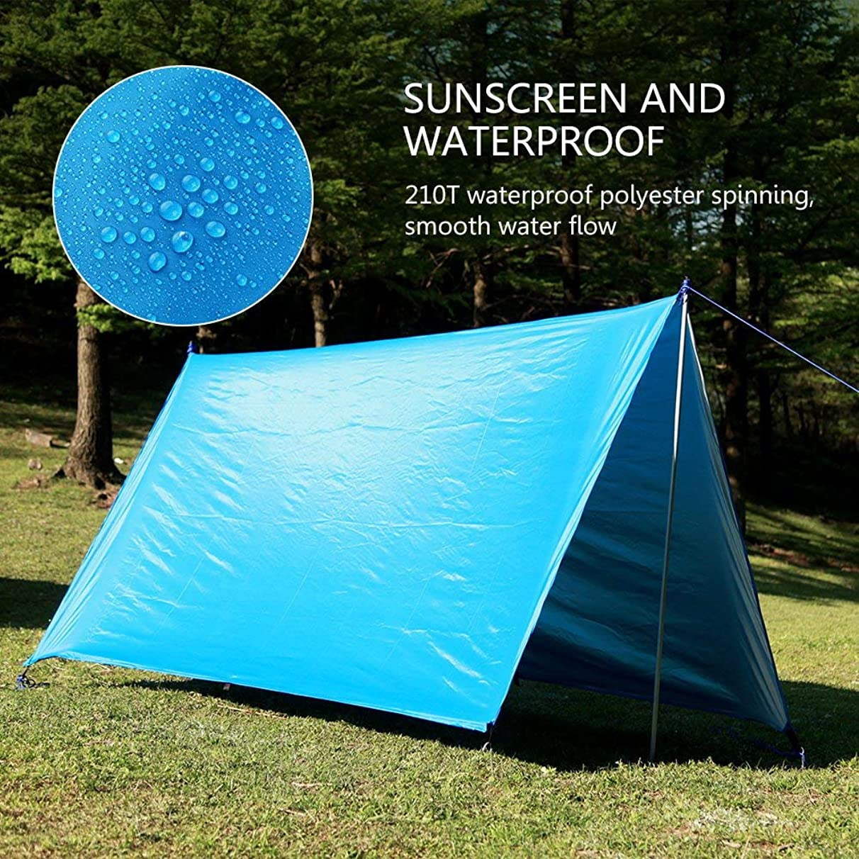 UUNITONA Camping Tarp Hammock Rain Fly 3mX 3m Sun Shade Sail -Waterproof Portable Lightweight-Camping Accessories Picnic Mat Backpacking Hiking Carrying Bag poj664207