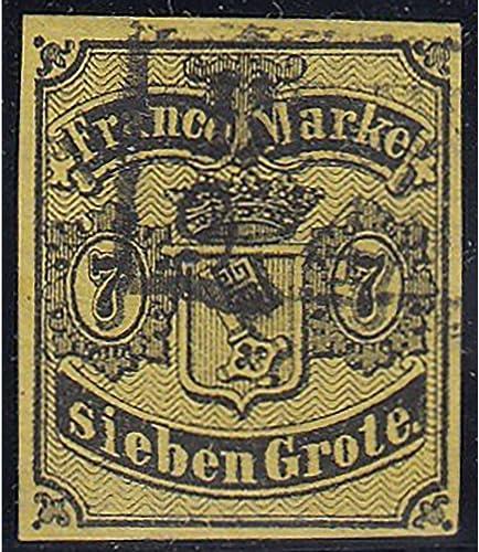 Goldhahn Bremen Nr. 3 a gestempelt geprüft mit Befund Heitmann Briefmarken für Sammler