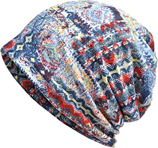 Jemis Womens Cotton Chemo Hat Beanie Scarf - Beanie Cap Bandana For Cancer (Blue)