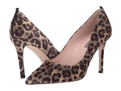 SJP by Sarah Jessica Parker Fawn 90mm (Leopard Glitter Velvet) Women