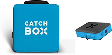 Catchbox Plus Throwable Microphone with 2-Sides Catchbox Graphics and Presenter Microphone, Blue
