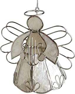 Ten Thousand Villages Capiz and Wire Angel Ornament 'Blessed Wings Ornament'