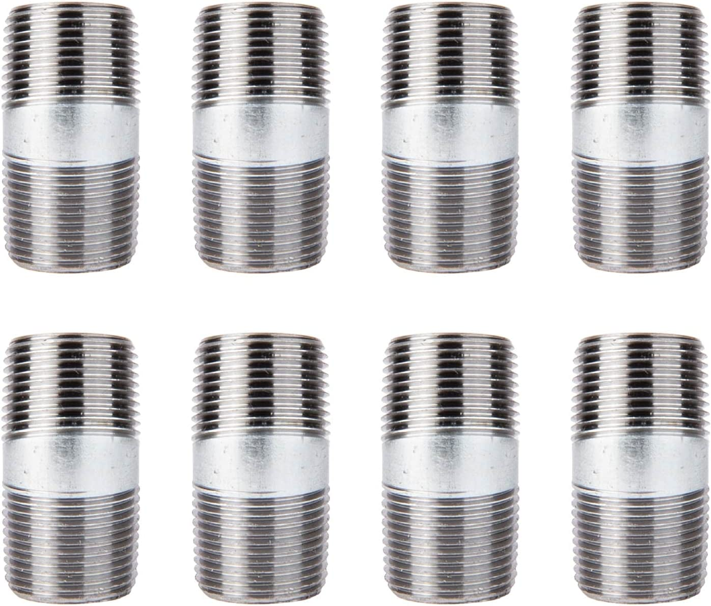 PIPE DÉCOR 3/4 in. x 2 in. Galvanized Steel Pipe, Pre-Cut, for DIY Furniture Building and Regular Plumbing Applications, 8 Pack : Industrial & Scientific