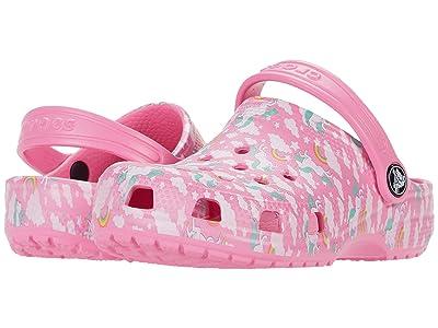 Crocs Kids Classic Majestic Creature Clog (Toddler/Little Kid) (Pink Lemonade) Girl