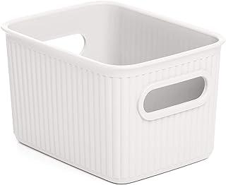 Escritorio 10x8cm 1 Soporte de pl/ástico para bol/ígrafos CAOQAO caf/é 10 x 8 cm Cesta compacta para Cocina Polipropileno Organizador Oficina ba/ño