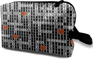 Lvxinghzd Crossword Puzzle Portable Travel Makeup Cosmetic Bags Organizer Multifunction Case Toiletry Bags