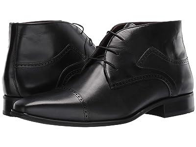Massimo Matteo Cap Toe Boot (Black) Men