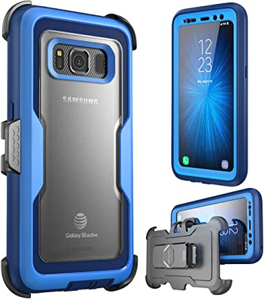 i-Blason Case for Galaxy S8 Active , [Magma] [Full body] [Heavy Duty Protection] Shock Reduction / Bumper Case with Built-in Screen Protector (Not Fit Galaxy S8/S8 Plus)(Blue)