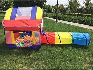 GJNWRQCY lekstuga tälttunnel, inomhus/utomhus lektunnel och lekplats för barn baby barnleksak, födelsedag (bollar ingår ej...
