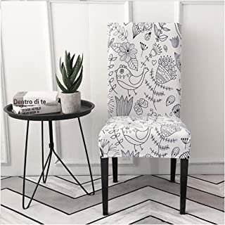 yuexianghui Stretch Spandex Removable Dining Room Chair Covers Living Room Kitchen Restaurant Wedding Decoration Seat Chair Covers Elastic,1,Universal