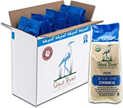 Great River Organic Milling, Specailty Flour, Medium Grind Corn Meal, Stone Ground, Organic, Non-GMO, 24 Ounces (Pack of 4)