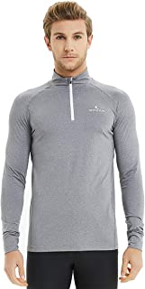 Found My Place Men's Long Sleeve Active Sport Shirts 1/4 Zip Jersey Tops Gym Pullover Jacket