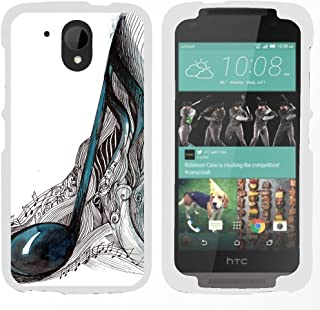 TurtleArmor | Compatible with HTC Desire 526G Case | Desire 526 Case [Slim Duo] Slim Fitted Compact Hard Protector Snap On Matte Case Music Design on White - Artistic Music Notes