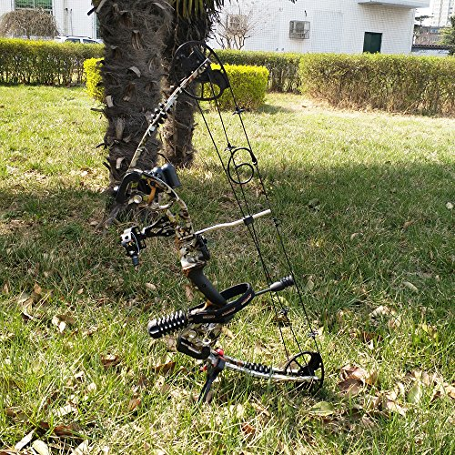 SHARROW Archery Compound Bow Kit 30-70lbs Aluminum Alloy Adult Hunting Bow with All Bow Accessories and Carbon Arrows for Outdoor Shooting (Camo)