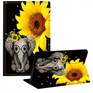 JStar Case for Kindle Paperwhite (10th Generation-2018 Release), Cute Elephant Sunflower Design Shockproof Smart Cover wit...
