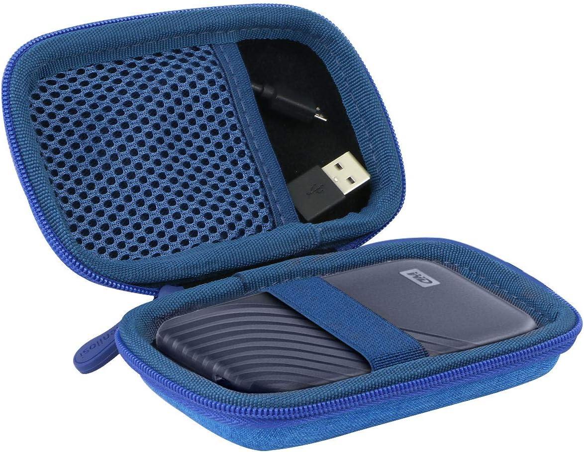 /Étui Housse pour WD My Passport SSD Disque SSD Externe par Aenllosi Grigio