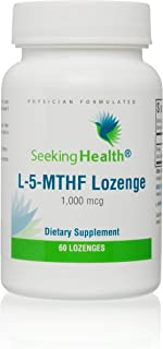 L-5-MTHF Lozenge | Active Form of Folate | 1,000 mcg of Pure, Non-Racemic Form of L-Methylfolate | 60 Servings | Optimal Absorption | Seeking Health