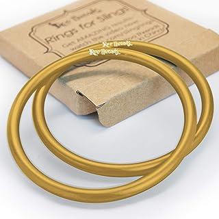 Roo Threads Aluminum Rings for Baby Slings, Gold