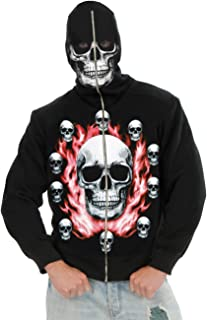 Adult Skull Full Zip Hoodie Costume