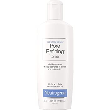Neutrogena Pore Refining Toner with Witch Hazel, Alpha Hydroxy Acid & Beta Hydroxy Acid, Oil-Free & Hypoallergenic Facial Pore Cleansing Toner, 8.5 fl. oz