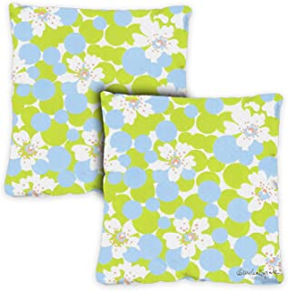 Toland Home Garden 721223 Vintage Daisies 18 x 18 Inch Indoor/Outdoor, Pillow with Insert (2-Pack)
