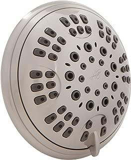 6 Function Adjustable Luxury Shower Head - High Pressure Boosting, Wall Mount, Bathroom Showerhead For Low Flow Showers - Brushed Nickel