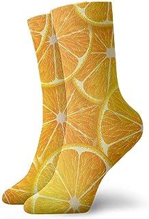 yting, Dibujos animados lindo limón naranja niños y niñas calcetines acolchados, calcetines deportivos de senderismo, calcetín de compresión