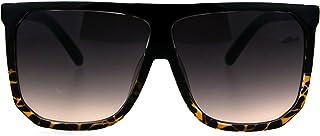 Oversized Style Sunglasses Flat Top Square Unisex Modern Fashion UV 400