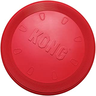 KONG – Flyer – Durable Rubber Flying Disc Dog Toy – for Large Dogs