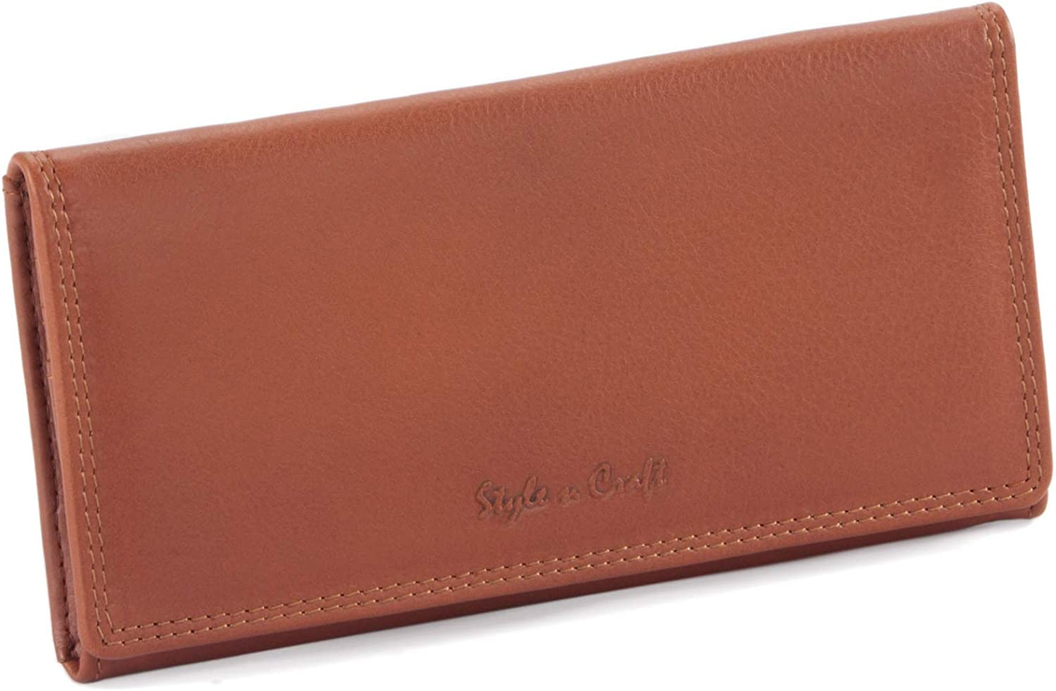 Style N Craft OFFicial Sales for sale 300965-CG Ladies Leather - Cog Clutch Wallet Long