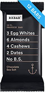 RXBAR, Chocolate Sea Salt, Breakfast Bar,  High Protein Snack, 1.83 Ounce, Pack of 12