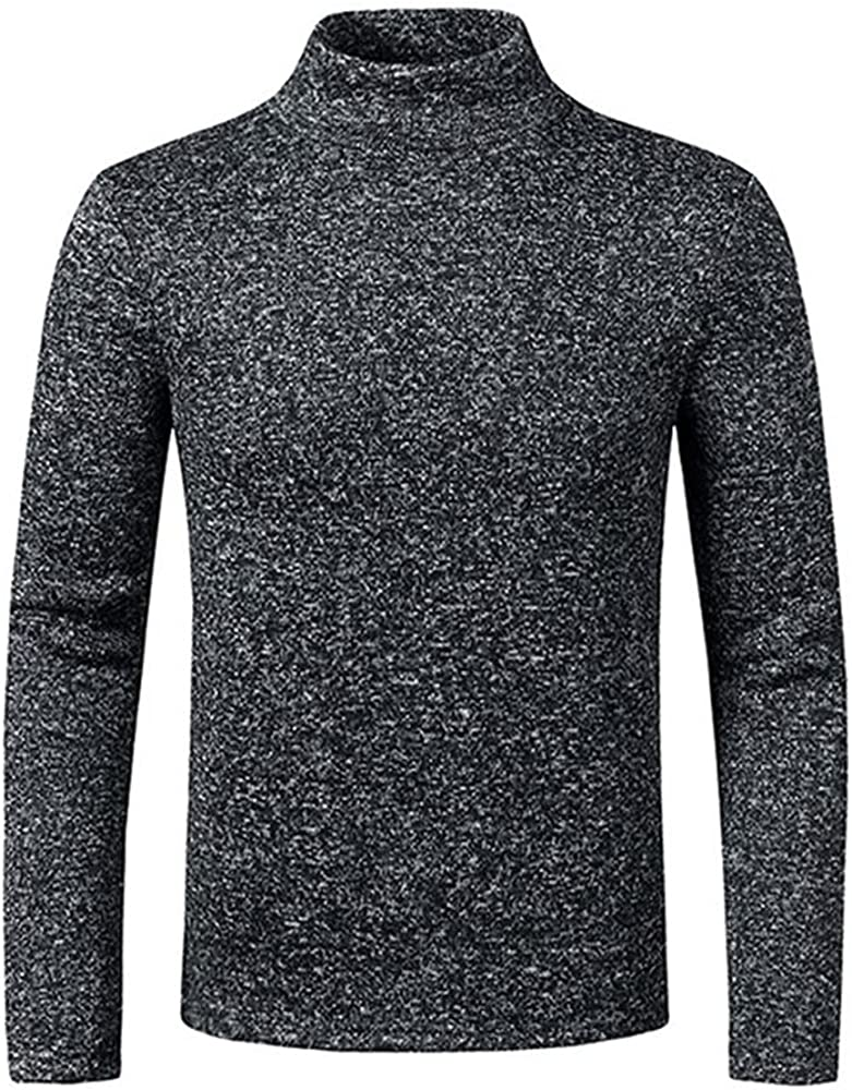 NP Mens Casual Slim Basic Knitted Half Neck Sweater Long Sleeve Sweaters Sueter